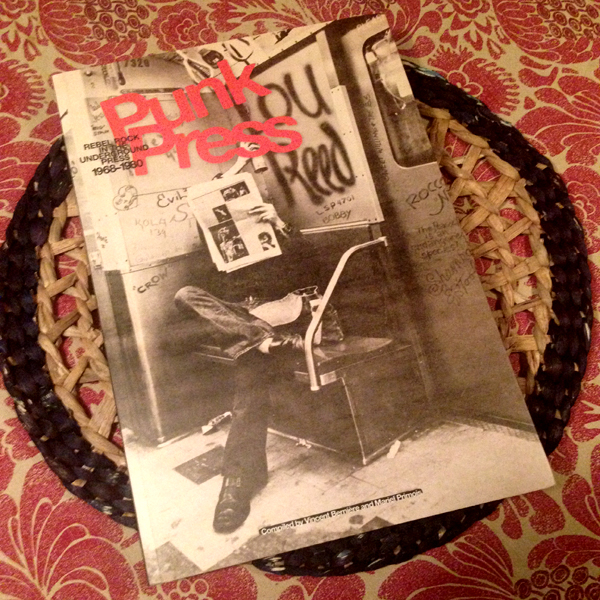 Punk Press book on the dining room table