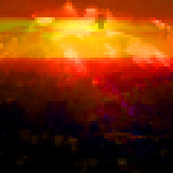 Pixelated sunset in AG