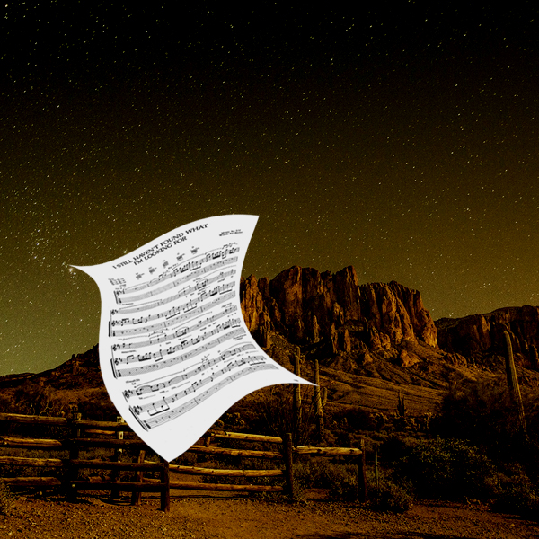 The sheet music for where the streets have no name, blowing in the desert wind