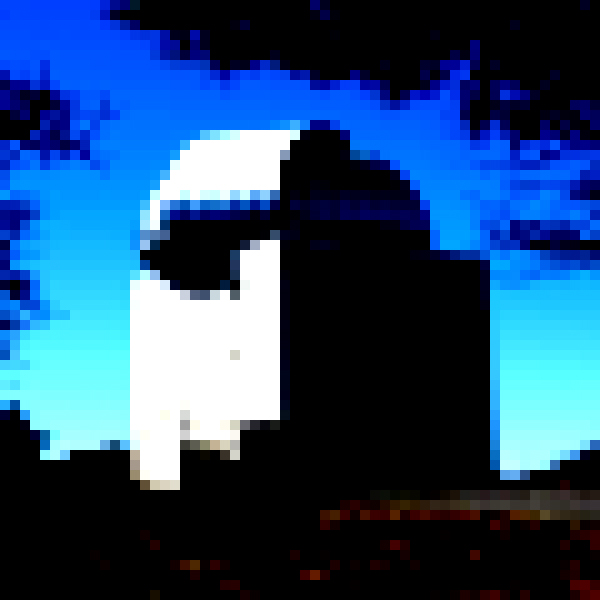 The Laguna Observatory, pixelated, in daylight