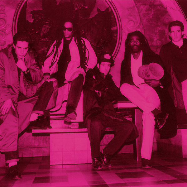 Big Audio Dynamite lounging in the lobby