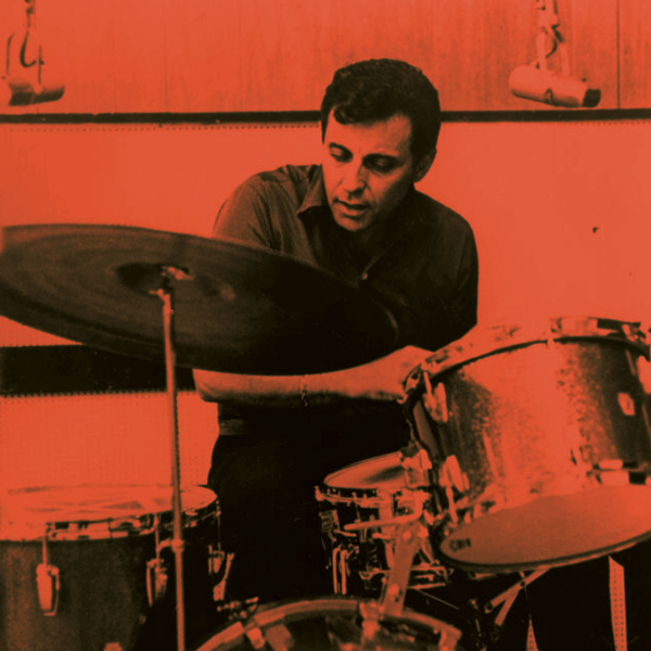 Hal Blaine behind the drum kit, doing his thing