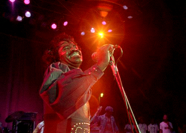 James Brown in impassioned performance