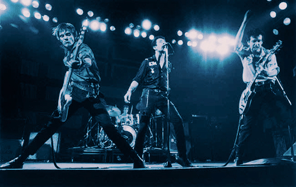 The Clash rip it up on stage