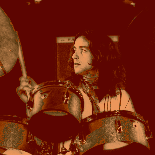 Jaki Liebezeit plays the drums