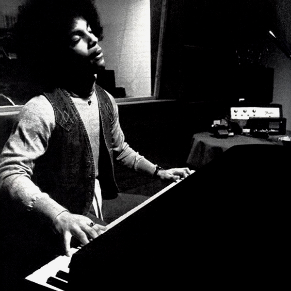 Prince at the piano in the late seventies