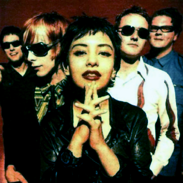 Classic photo of the Sneaker Pimps, with Kelli Dayton in the fore