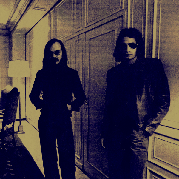 Walter Becker and Donald Fagen chilling in the lobby