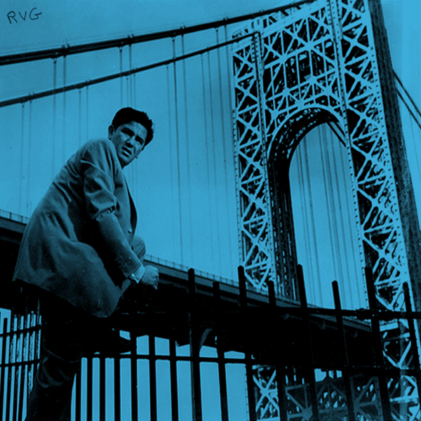 A young Rudy Van Gelder poses on the George Washington Bridge