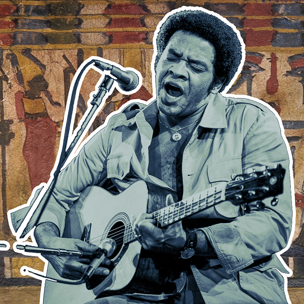 Bill Withers weaves stories on the guitar, lost in the music