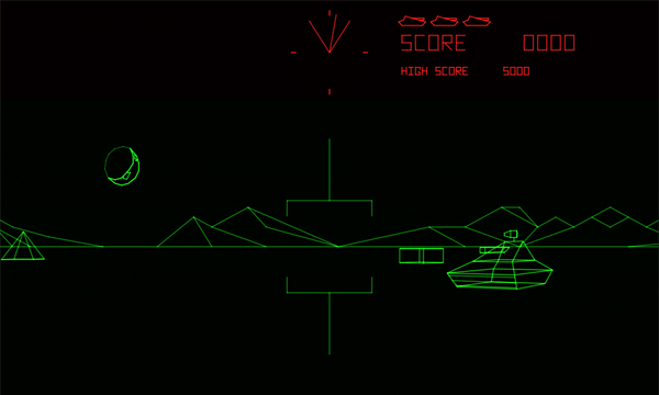 Screenshot of Battlezone (Arcade Version) in in action