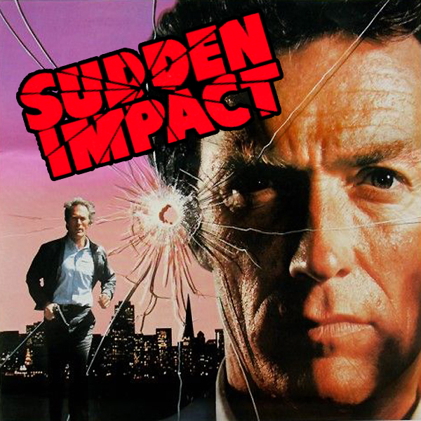 Cropped movie poster from the Clint Eastwood/Dirty Harry film Sudden Impact
