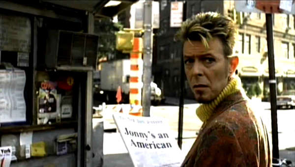 Still from David Bowie's music video for I'm Afraid Of Americans