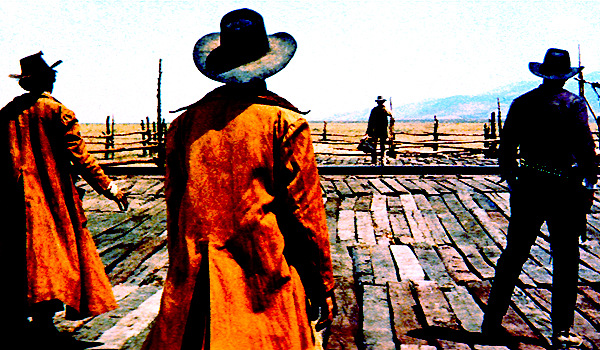 The opening scene from Once Upon A Time In The West