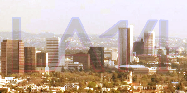 A portion of the L.A. skyline