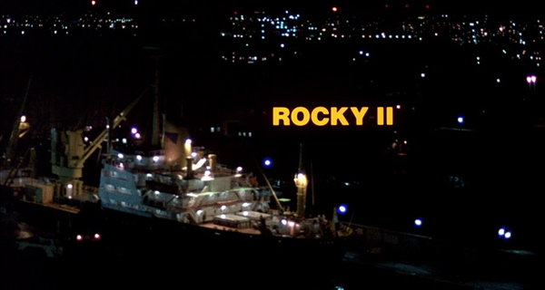 Ship in the Philadelphia harbor from the opening credits of Rocky II