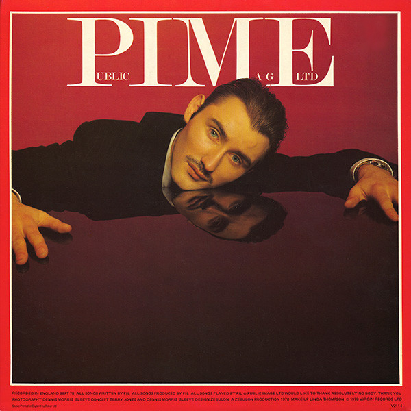 Inset from PIL's debut, First Issue, featuring a glammed-up Jah Wobble on the cover of PIME magazine!