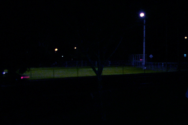 Allied Gardens Community Park at night