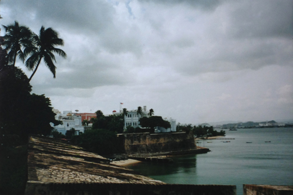 The seaside fortress at San Juan on a cloudy day