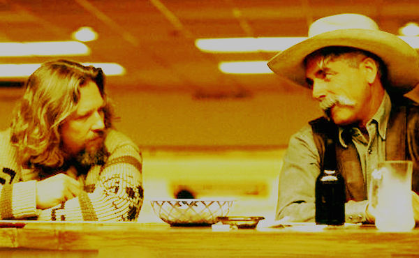 The scene in The Big Lebowski where Sam Elliott chats up Jeff Bridges at the bar